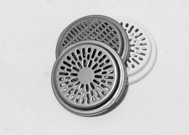 Professional deep drawn metal pressings parts speaker grille with white coating